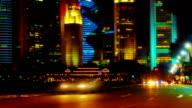 Night traffic light video