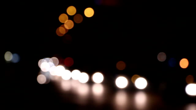 Night traffic lights video