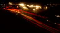 Night Traffic Timelapse video