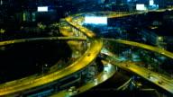 Night traffic Time-Lapse. video