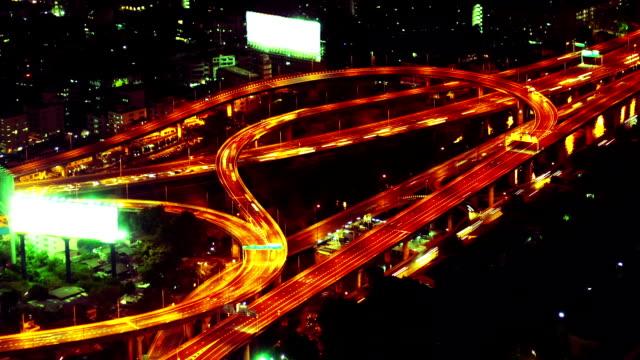 Night traffic video
