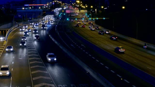 Night urban traffic scene. video