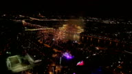 Night view and firework at Moscow city video