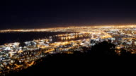 Night View of Cape Town from Signal Hill video