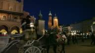 Night view of Krakow video
