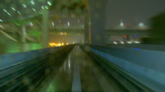 Night view of Tokyo from the beginning of the train. video
