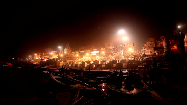 Nightly Ceremony along the Ghats of the Ganges: Varanasi, India (with audio) video