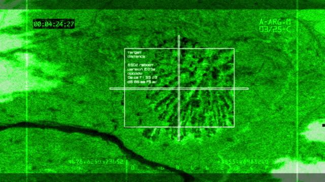 Night-vision Video Bomb Hitting Target video
