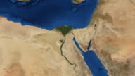 Nile river North Africa from space video