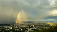 Nimbus and rainbows over the city video