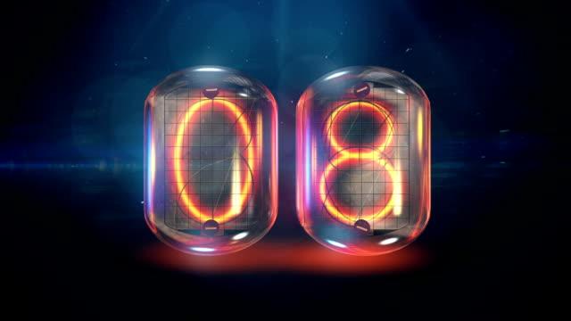 Nixie tube countdown video