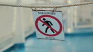 No Entry Sign video