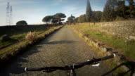 No Hands Mountain Biking on the Via Appia Antica video