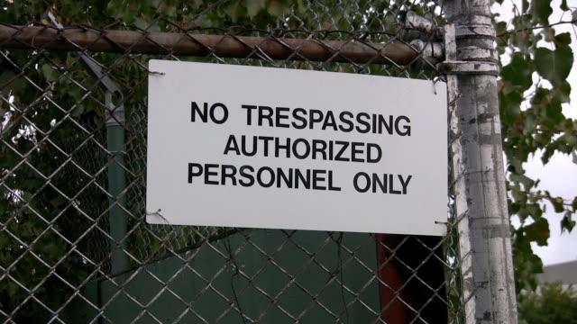 No Trespassing Sign. video