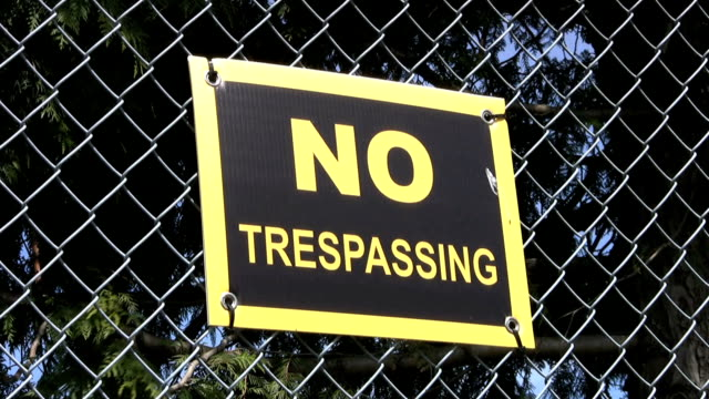 No Trespassing Sign (HD 1080p30) video