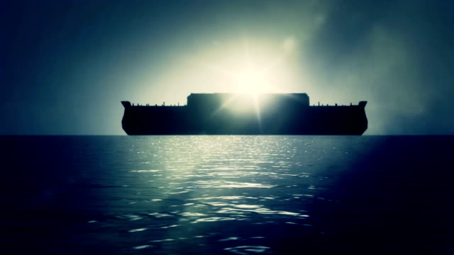 Noah Ark After the Great flood Floating Peacefully on Water video