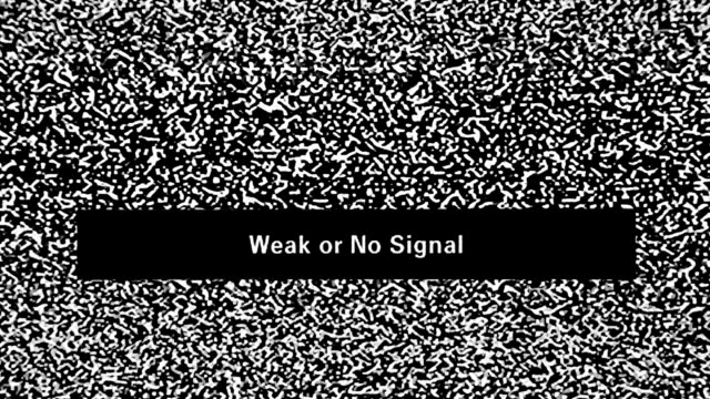 TV noise. Weak or no signal video
