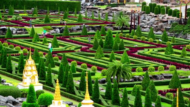 Nong Nooch tropical botanical garden in Thailand video