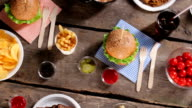 Noodles with burgers and vegetables. video