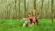 Nora dance in rubber plantation video