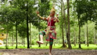 Nora dancing in forest video