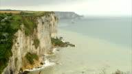 Normandy cliffs video