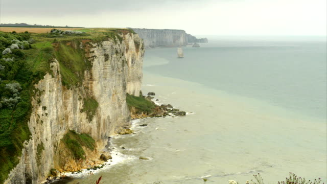 Normandy cliffs video
