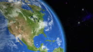 North America from space video