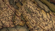 North Fly By of Ancient Map Ortelius video