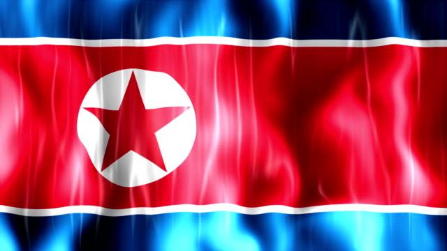 North Korea Flag Animation video