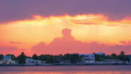 north miami sunset sky private house bay panorama usa video