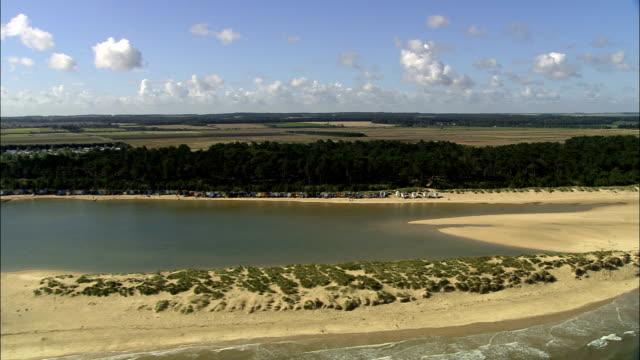 North Norfolk Coast Near Wells  - Aerial View - England, Norfolk, North Norfolk District, United Kingdom video
