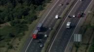 M25 North Of Thames Estuary  - Aerial View - England, Essex, United Kingdom video