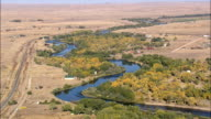 North Platte River  - Aerial View - Wyoming, Natrona County, United States video