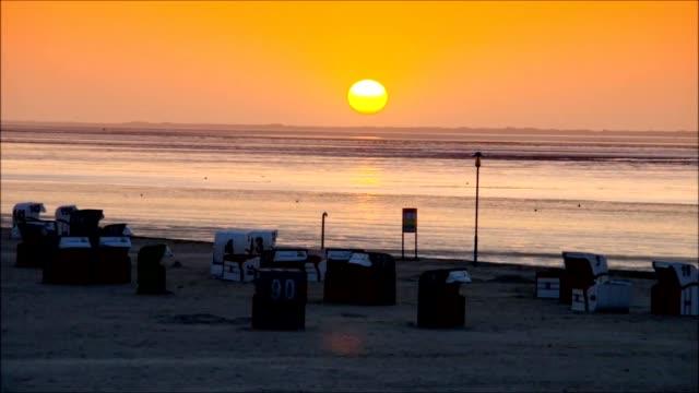 North Sea sunset video