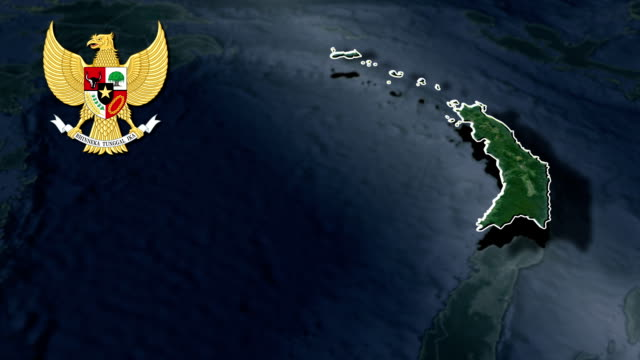 North Sulawesi with Coat Of Arms Animation Map video