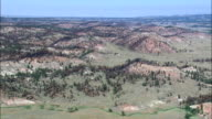 Northern Cheyenne Indian Reservation  - Aerial View - Montana, Big Horn County, United States video
