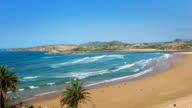 Northern Coast of Spain. Beautiful Beach video