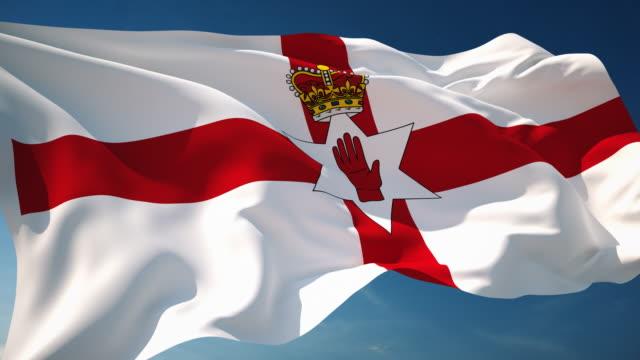 4K Northern Ireland Flag - Loopable video