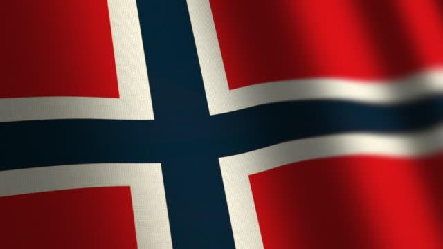 Norway flag - loop. 4K. video
