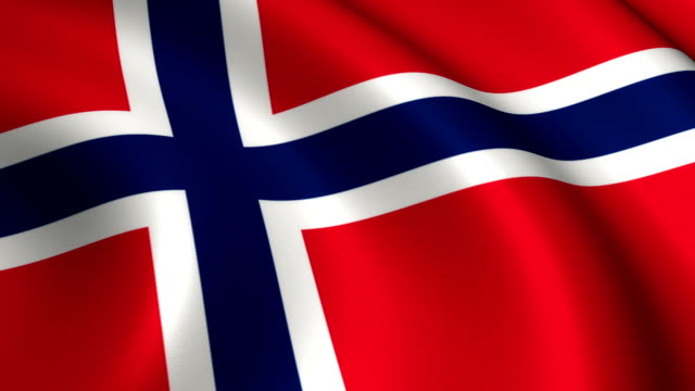 Norway Flag Loopable video