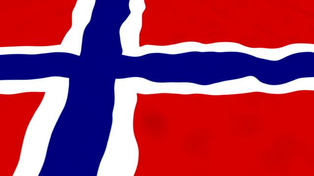 Norway Flag - looping, waving video