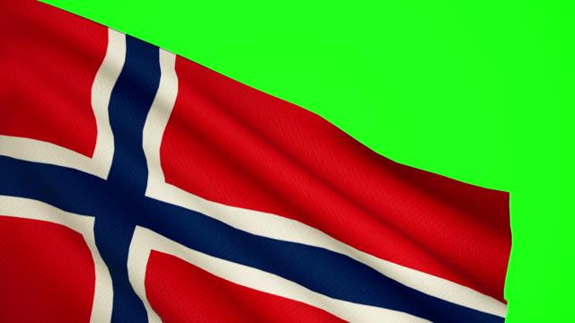Norway flag Luma matte video