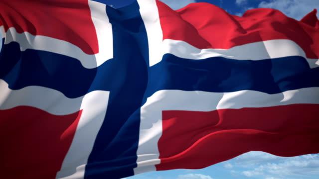 Norway flag video