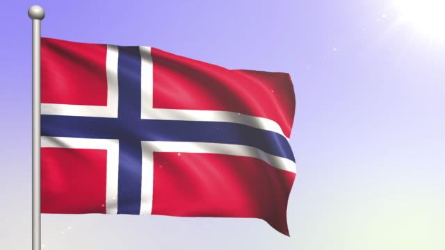 Norway Flag (Loopable) video