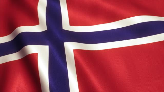 Norway Flag Video Loop - 4K video