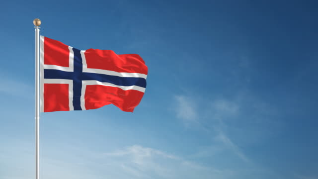 4K Norwegian Flag - Loopable video