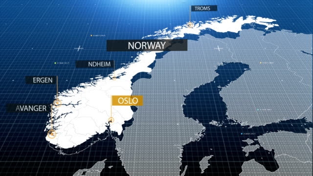 Norwegian map with label then with out label video