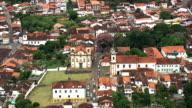 Nossa Senhora Do Carmo And De São Francisco De Assis  - Aerial View - Minas Gerais, Mariana, Brazil video