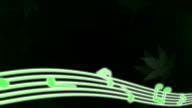 Note flowing maple ginkgo pattern dark background video